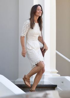 """Pin for Later: Pippa Middleton's Engagement Ring Amps Up Her Summer Dress Like """"Whoa"""""""