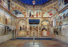 church of Santa maria_in_solario_(brescia) remarkable early 16th century fresco decoration carried out by Floriano Ferramola