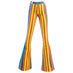 Gianni Versace Spring-Summer 1993 striped extra wide flared pants