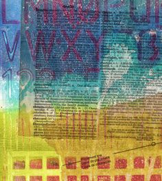 New Gelli Printing Blog Post!! Gelli Printing Faux Chine Collé - Printing with Gell Arts®  GIVEAWAY - deadline is Tuesday, April 22nd, 2014 at 12noon EST