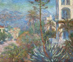 Storia, analisi e descrizione di un quadro di Monet: Le Ville a Bordighera. Dipinto nel 1884 en plein air, l'opera impressionista è conservata oggi a Parigi