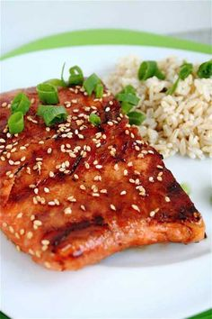 I have used this glaze for the salmon but it is great on Chicken too! Very good recipe! Dan's grilled salmon