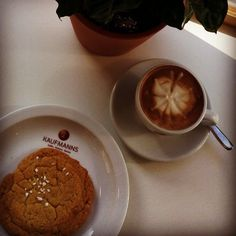 Enjoying an afternoon break with an organic vegan cappuccino and a delicious vegan cookie.  #instagood #instacoffee #instadaily #enjoying #life #awesome #delicious #organic #vegan #coffee #cappuccino #latteart #passion #coffeeroaster #butterfly #cookie #food #afternoon #break #photo #kaffee #schmetterling #nachmittag #pause #kaufmannswiesbaden #wiesbaden