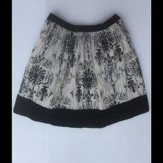 """New Kimchi Blue Baroque Lace Velvet Mini Skirt 5 New Kimchi Blue Twice baroque printed lace mini skirt w/ black velvet trim. Waist: 35"""" Length: 31"""" Velvet band at hem: 3 1/4"""" Lined in 100% cotton. Shell: nylon/lurex. Hand wash Urban Outfitters Skirts Mini"""