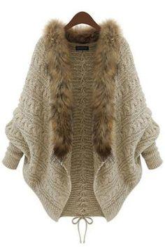 Doresuwe.com SUPPLIES 質感 人気ベージュ バットスリーブ レースアップセーター  ファッショントレンド