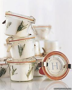 """See the """"Rosemary Sea Salt Favors"""" in our Cooking-Themed Bridal Shower gallery"""