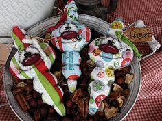 Christmas Cheer bulbo Ornies patrón 151  patrón primitivo