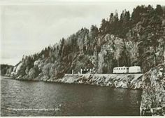 Skillingmarksbussen han slänger o går DVVJ Järnväg Beted Koppom 1953 Rälsbuss