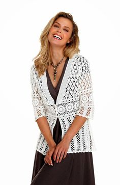 crochelinhasagulhas: Maxi casaco de crochê