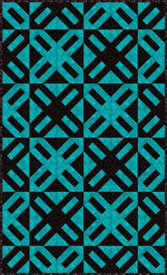 Cracker Quilt Pattern in black with cream and black polkadots