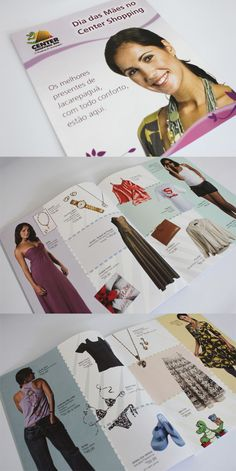 Catálogo para o Center Shopping.