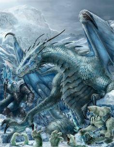 # DRAGON; RIFTER 64 Palladium Fantasy Ice Dwellers painted by ChuckWalton