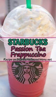 Starbucks Passion Tea Frappuccino! A twist on your favorite tea flavor!