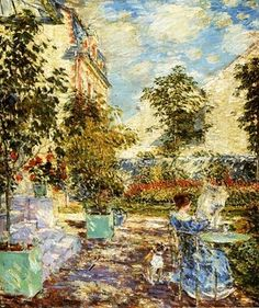 Frederick Childe Hassam (1859-1935). In a French Garden. 1897