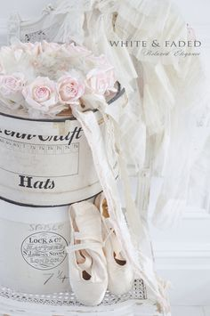 Flower crown and vintage hat boxes