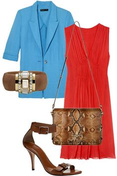 How to Wear Color - Summer 2012 Color Trend - Harper's BAZAAR - Keep Your Accessories Neutral