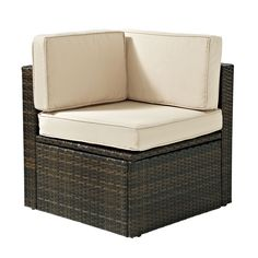 Crosley Furniture Palm Harbor Brown Wicker Patio Conversation Chair