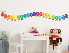 Buy these gorgeous Counting Caterpillar Wall Stickers online