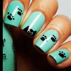 Cute pet paws nail art. | this has my name written all over it