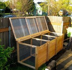 The Unwaste Station: A Cool DIY Compost Bin. Like the other one but has a lid on top which would keep critters out and other things from falling in.