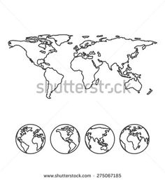 I was thinking of getting this on my forearm or somewhere that i gray outline map of the world with globe icons vector illustration gumiabroncs