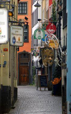 Cobblestone Street, Cologne, Germany