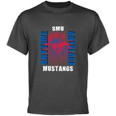 SMU Mustangs Charcoal Anytime Anyplace T-shirt