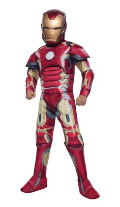 Avengers 2 Deluxe Iron Man Kids Costume - Mr. Costumes