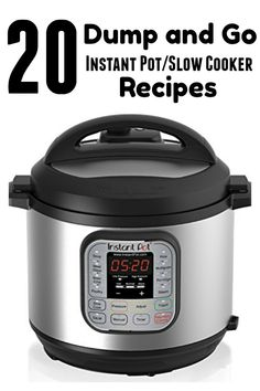 20 Dump and Go Instant Pot and Slow Cooker Recipes--want to put something into the Instant Pot or slow cooker, walk away and come back to food that is completely done? These recipes require no extra sauteing steps or broiling steps. Everything is done once you put the lid on!