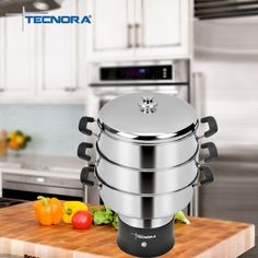 Start off the New Year on a healthy note. Cook nutritious food in no time with Tecnora Multisteam Cooker. 3 stainless steel chambers with a unique circumference steam release system lets you prepare an entire meal in one go.