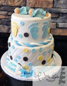 Twin Baby Shower Cake Custom Made Cakes
