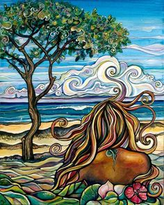 Love this girl's art! Rocky Point Colleen Wilcox Art Rocky Point, surf spot on the North Shore of Oahu Acrylic on Canvas Original: Sold Prints: Available Hawaiian Art, Painting, Illustration Art, Art, Canvas Giclee, Surf Art, Tropical Art, Beach Art, Ocean Art