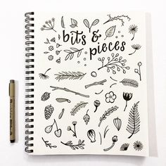 Bits & Pieces illustration - sketchbook by @jaymesloan #hennelpaperco