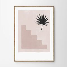 palm stairs print