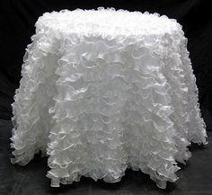 Delightful Tablecloth Frills. Ruffled TableclothWedding Tablecloths50th Wedding  AnniversaryWhite ...