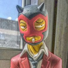 Self portrait :) #muttpop #reddemon #luchalibre