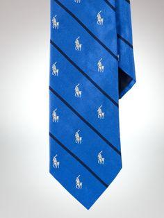 Striped Silk Polo Player Tie - Polo Ralph Lauren Ties Spring 2013 - RalphLauren.com