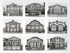 Bernd and Hilla Becher (Their work consists of a methodological approach to photographing industrial)