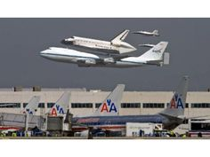 Last flight.  The space shuttle Endeavour riding on the back of a 747 does a low fly over of Los Angeles International Airport Friday afternoon. - Mark Rightmire, The Orange County Register