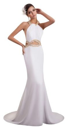 herafa p32880-24 Evening Dress Elegant Style Halter Sleeveless Open Side Zip Delicate Beading Long Chapel A-line White herafa,http://www.amazon.com/dp/B00J69PRFE/ref=cm_sw_r_pi_dp_5y0rtb10112PATHX