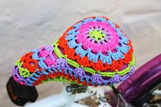 Bike saddle cover in crochet. Seat cover. by Crocheclette on Etsy