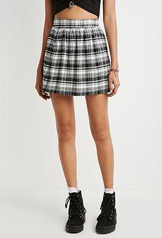 bcfce2ba4 Tartan Plaid Flared Skirt | Forever 21 Canada Trending Now, Tartan Plaid,  Flare Skirt