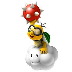 Artwork of a Lakitu from New Super Mario Bros. Wii