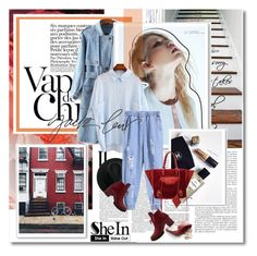 """""""Denim is a way of life - Shein#3"""" by undici ❤ liked on Polyvore featuring Anja"""