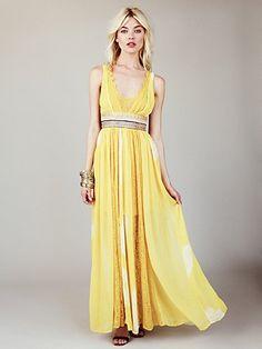 FP New Romantics Yellow Tie Dye Maxi