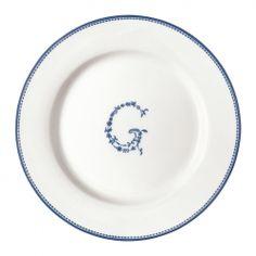 GreenGate G blue assiett
