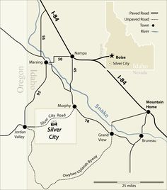 Map of Idaho Mining Towns: Gold Rush Days and Ghost Towns (Outdoor ...