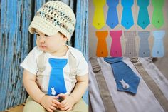 Get The Set  Easter Bunny Tie Onesie or Shirt by shopantsypants, $35.00