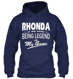 Rhonda Name, Legend Game Navy Sweatshirt Front