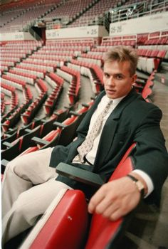 Steve Yzerman sits in the lower bowl seats after a press conference at Joe Louis Arena, Sept. (Detroit News archive) Detroit Sports, Detroit News, Joe Louis Arena, Steve Yzerman, Red Wings Hockey, The Joe, State Of Michigan, Detroit Red Wings, Hockey Players